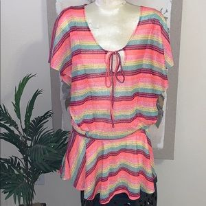 🌺 NWOT- VS Multicolor Knit coverup